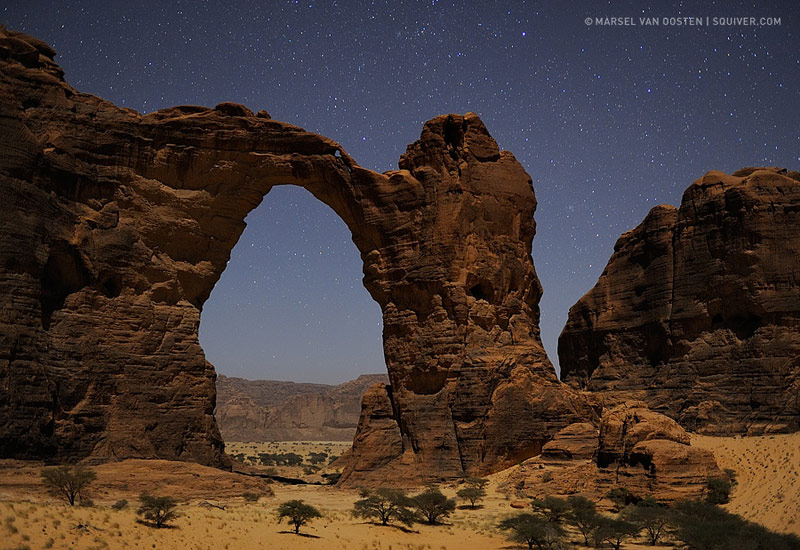Aloba Arch by Moonlight
