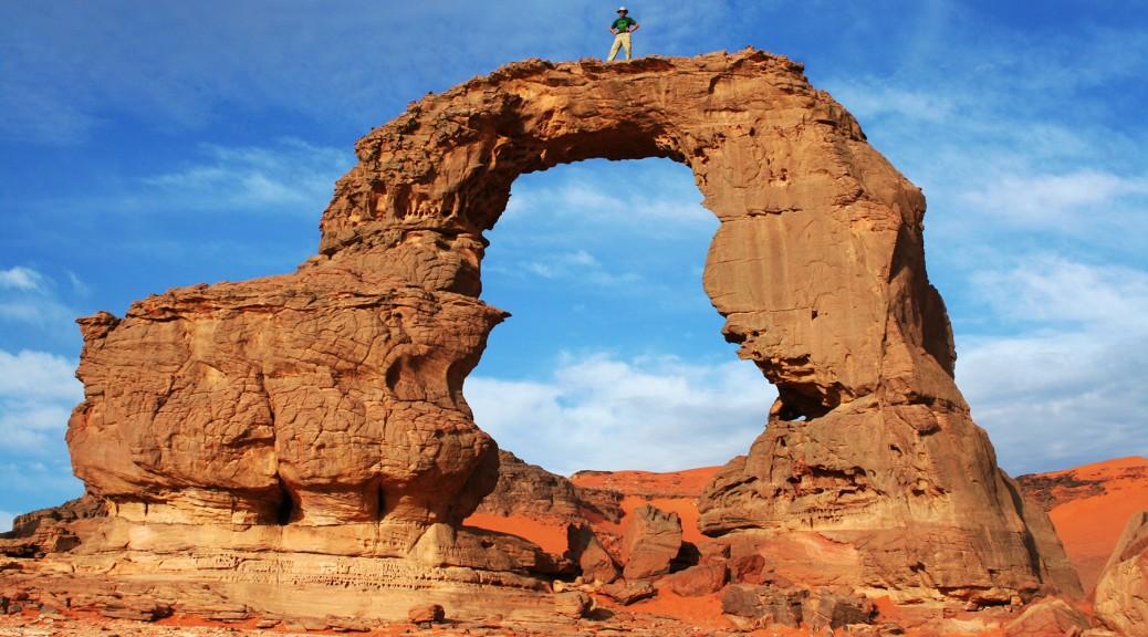In Tehaq Arch, Algeria